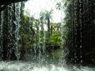 Singapore - Gardens by the Bay - waterfall in dome